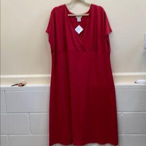 Travel Smith 3X red NWT dress